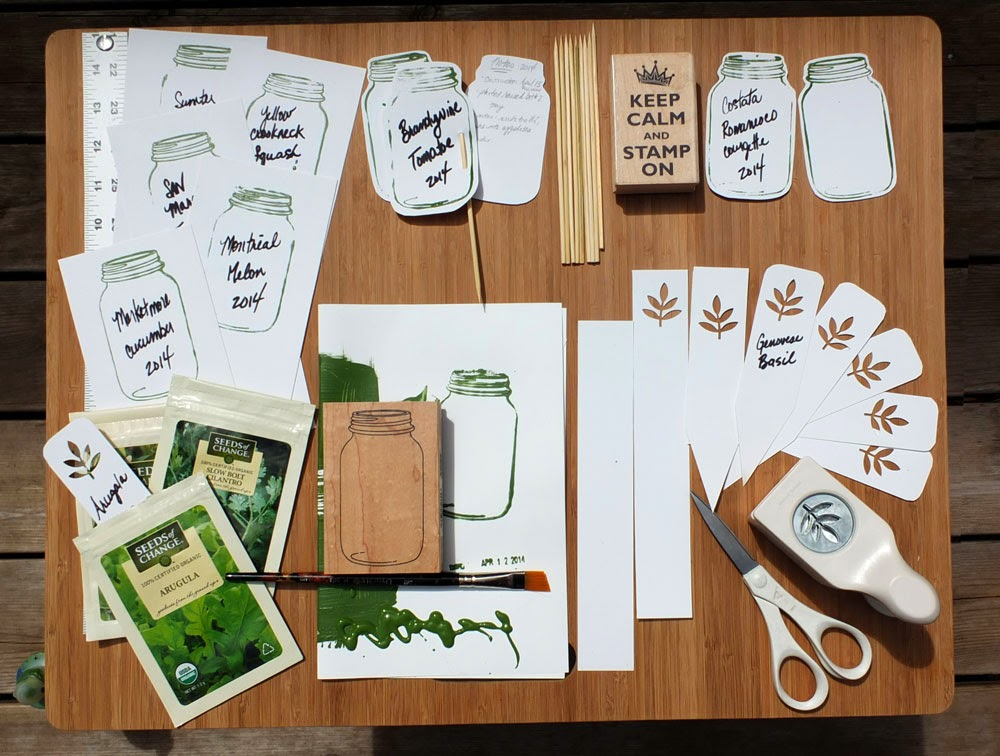 DIY Plant markers, herb garden, vegetable garden, eco garden solutions