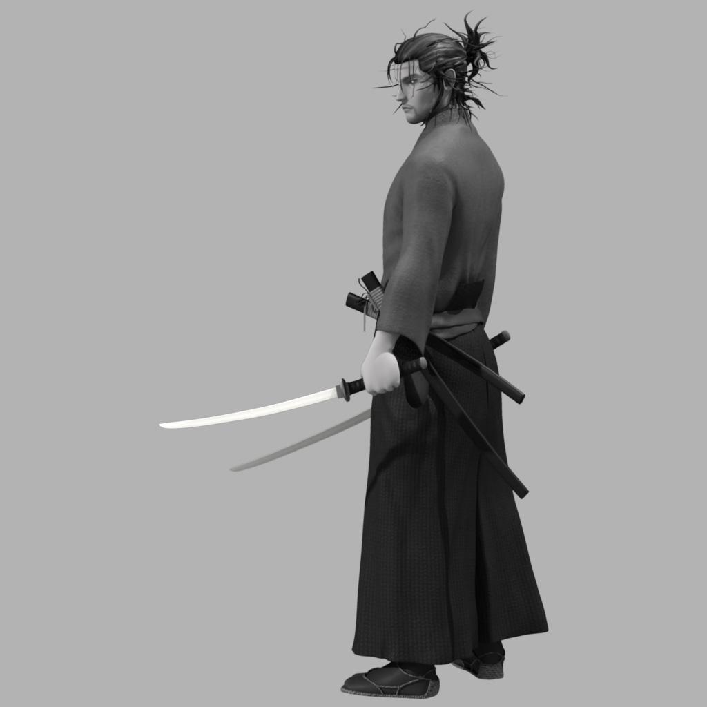 Miyamoto Musashi: 3D Modeler Jin H Kim: Miyamoto Musashi