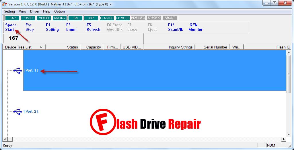 IT1167 MPTool 1.67.12.0 recovery
