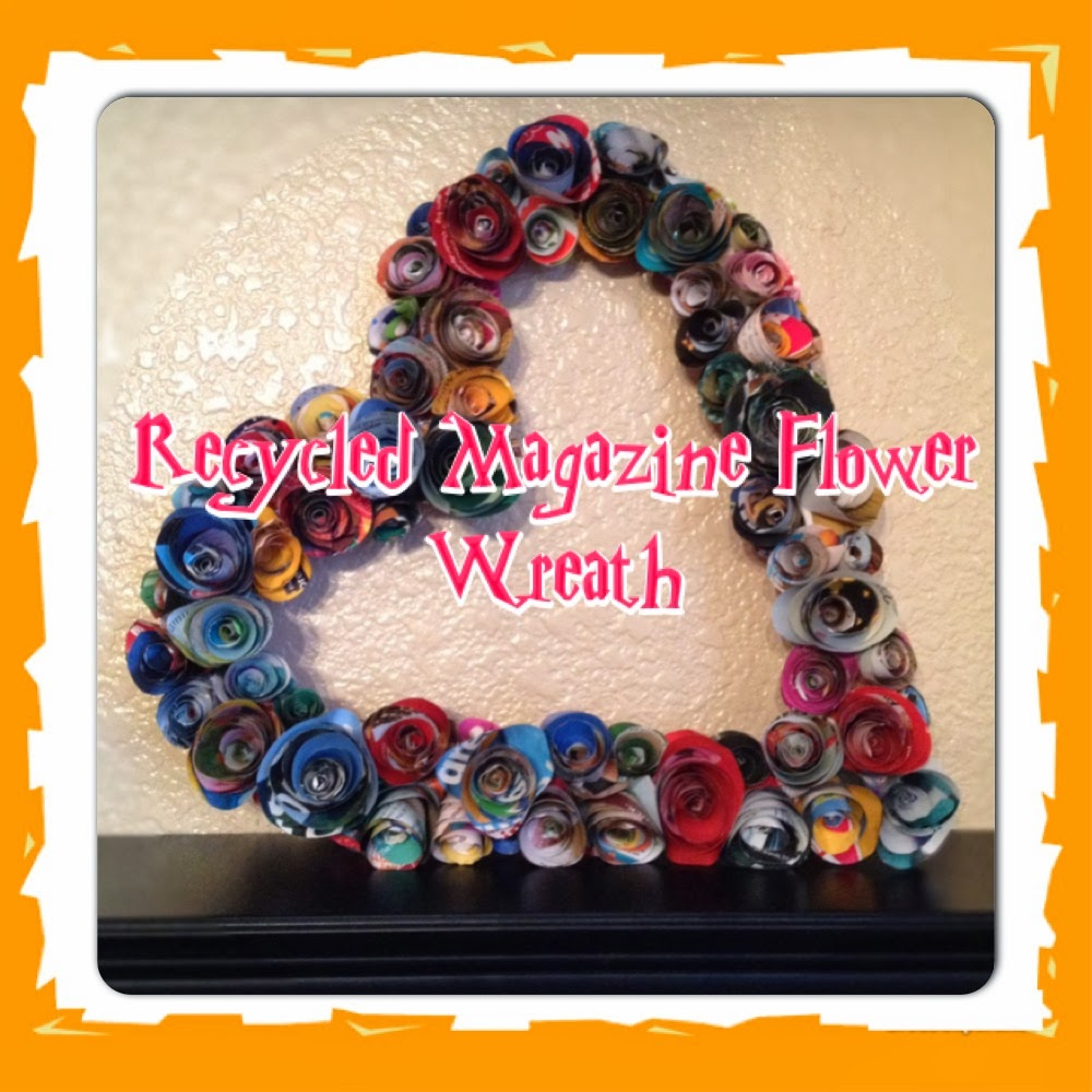 Magazine flower wreath