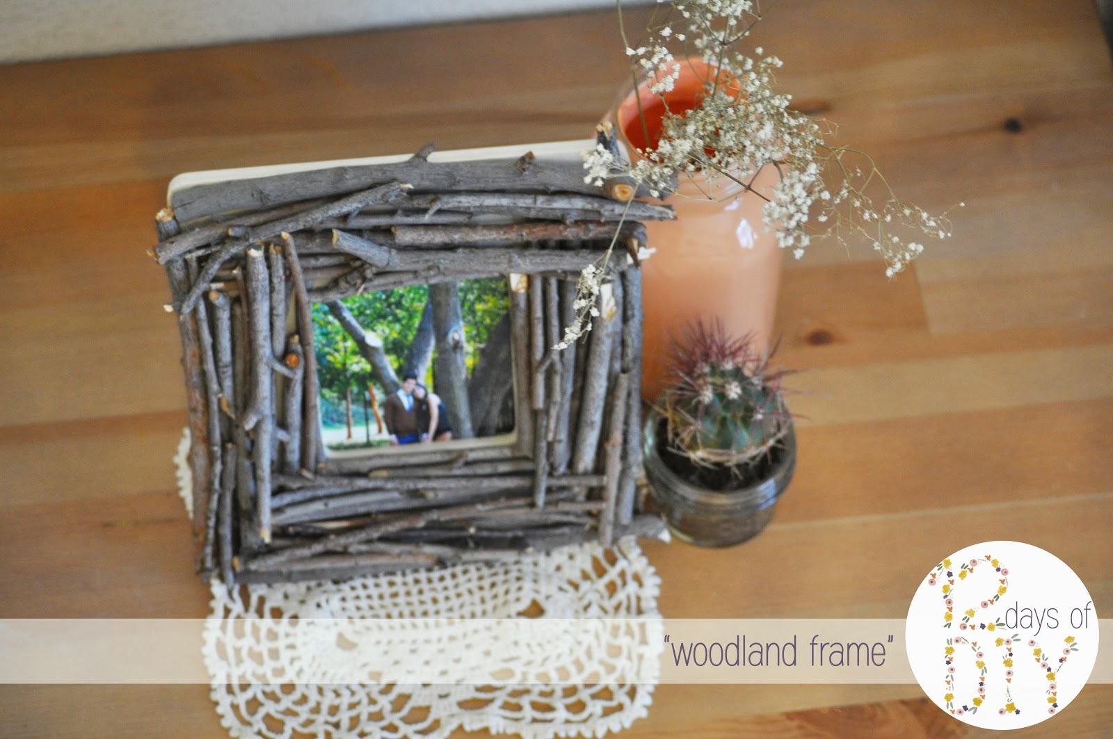 pie n 39 the sky 12 days of diy woodland frame. Black Bedroom Furniture Sets. Home Design Ideas