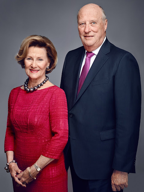 New official photographs of the Norwegian Royal Family have been released on the occasion of the King and Queen's 25th anniversary of ascension to the Norwegian throne