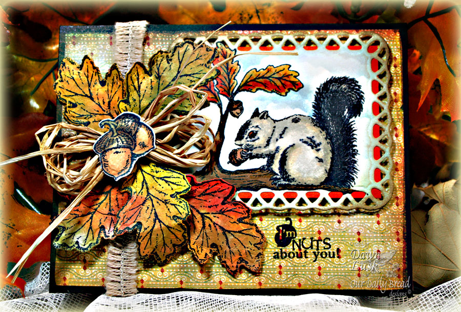 Stamps - Our Daily Bread Designs Autumn Blessings, Thankful Song, ODBD Custom Fall Leaves and Acorn Die