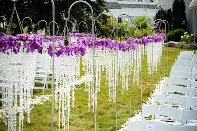 Outdoor Crystal Wedding Ceremony Decorations