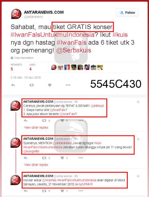 Tiket Gratis Konser Iwan Fals Untukmu Indonesia