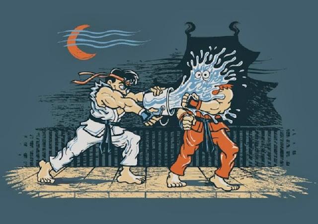 El travieso de Ryu contra Ken