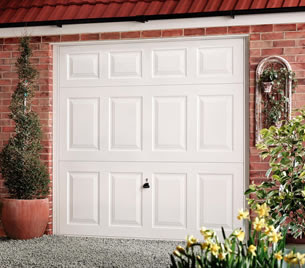 Garador Beaumont garage door in white