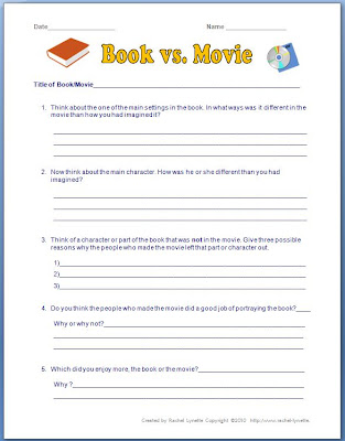 comparison essay book movie
