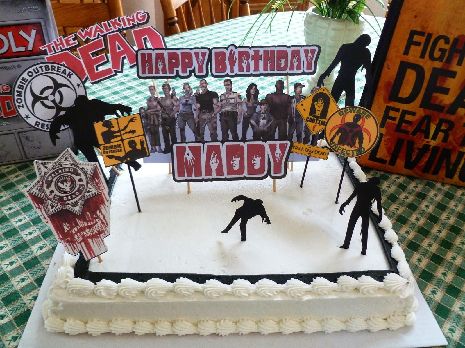 Debs Crafty Side Walking Dead Birthday