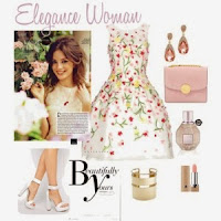 Tips Tampil Anggun Dengan Gaun Motif Bunga