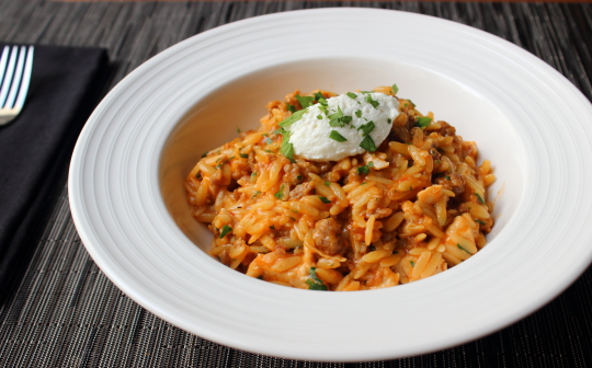 easy sausage and pea orzo risotto recipes dishmaps orzo risotto ...