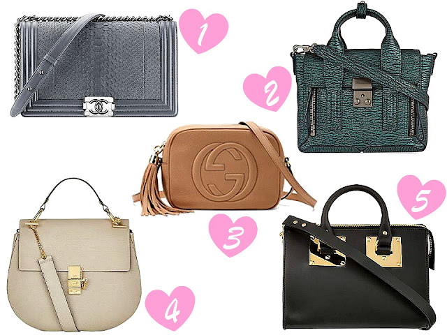 Gucci Soho Disco, Chloe Drew Bag, 3.1 Phillip Lim, Chanel Boy, Sophie Hulme