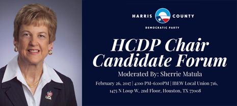 DON'T MISS THE HCDP CHAIR CANDIDATE FORUM ON SUNDAY, FEBRUARY 26, 2017
