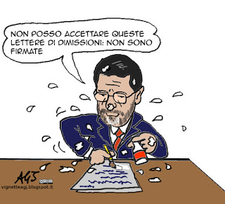 marino, dimissioni consiglieri, roma, vignetta satira