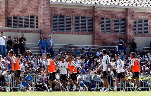 Real Madrid training at UCLA 2011