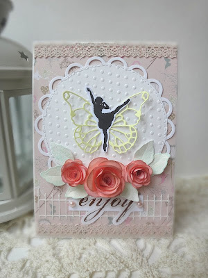 """Нежно-розовая открытка """"Enjoy"""""""