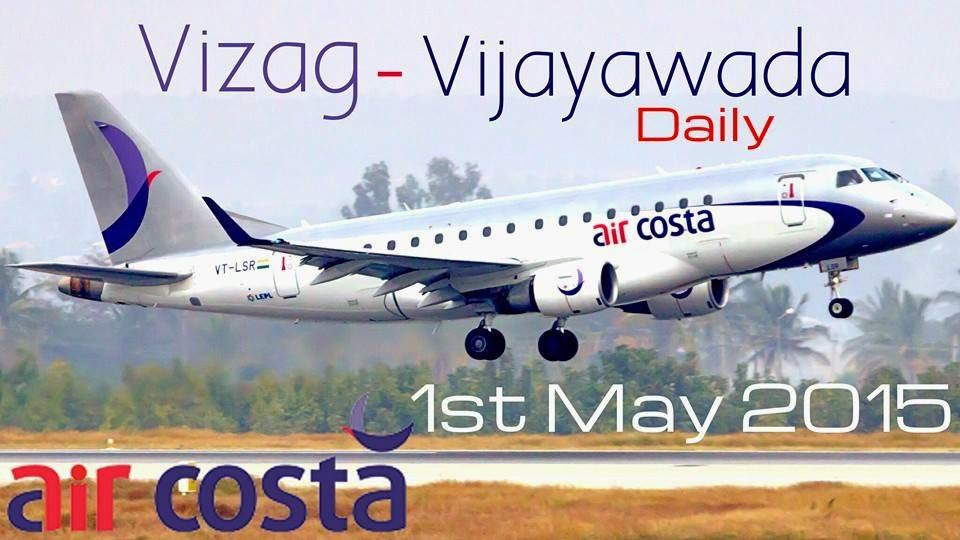 VIZAG to VIJAYAWADA Daily Flight now - Air Costa