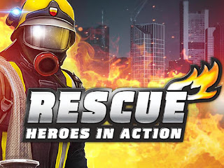 Screenshots of the Rescue Heroes in action for Android tablet, phone.