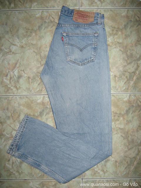 Levis 501 Denim Jeans màu xanh cổ điển 300k