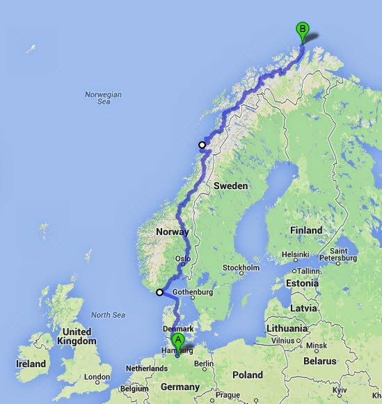 Visit Southern Norway The long journey from Germany to Norway on a