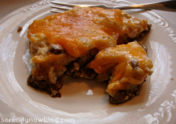 Sausage, Egg, and Cheese (Make Ahead) Breakfast Casserole, from Serenity Now