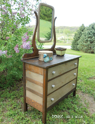KarlyesAntiqueDresser9 Guest Post: Antique Dresser Refinish from Denise&hellip;On a Whim