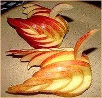 карвинг - лебед от ябълка
