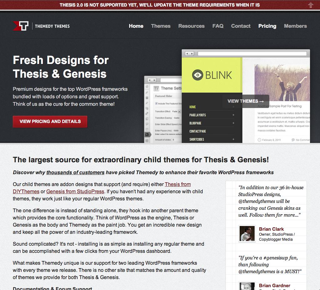copyblogger thesis theme