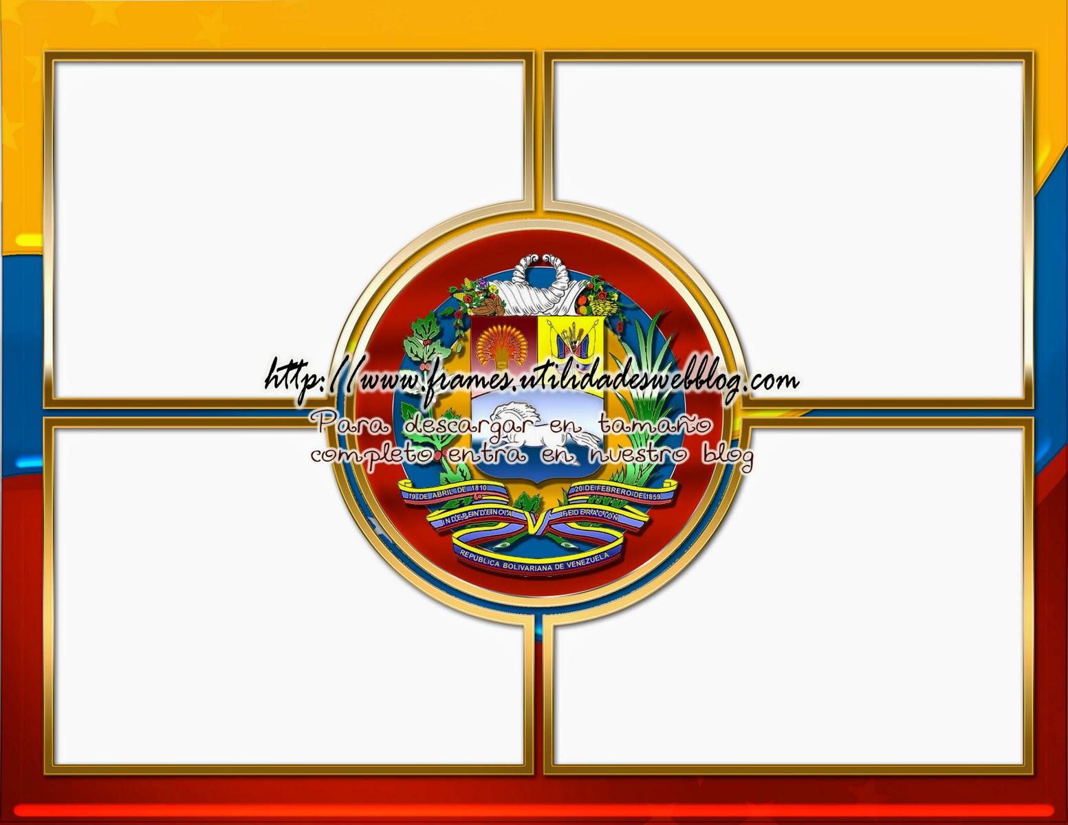 Bonito marco para 4 fotos con patriotismo venezolano photo frames - Marco 4 fotos ...
