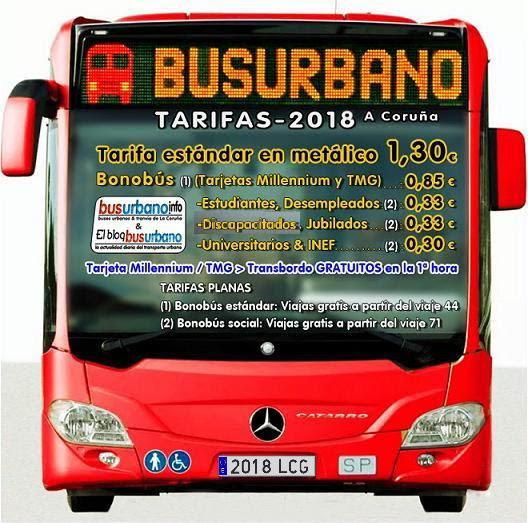 Tarifas para 2018