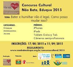 Concurso Cultural Não Bata, Eduque 2015