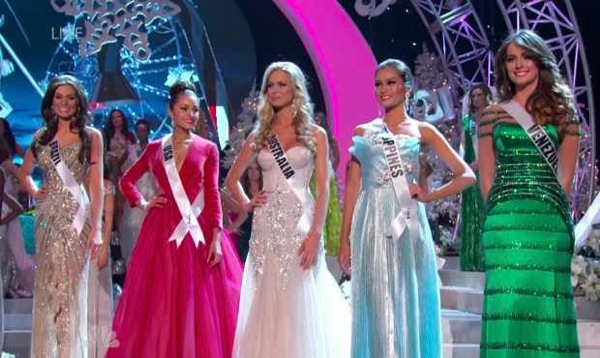 Miss Universe 2012 Top 5 Finalists