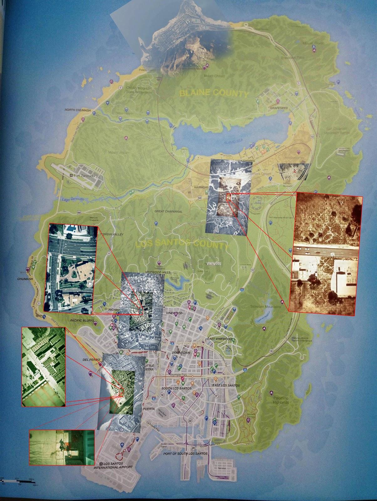 The Leaked World Map of GTA V