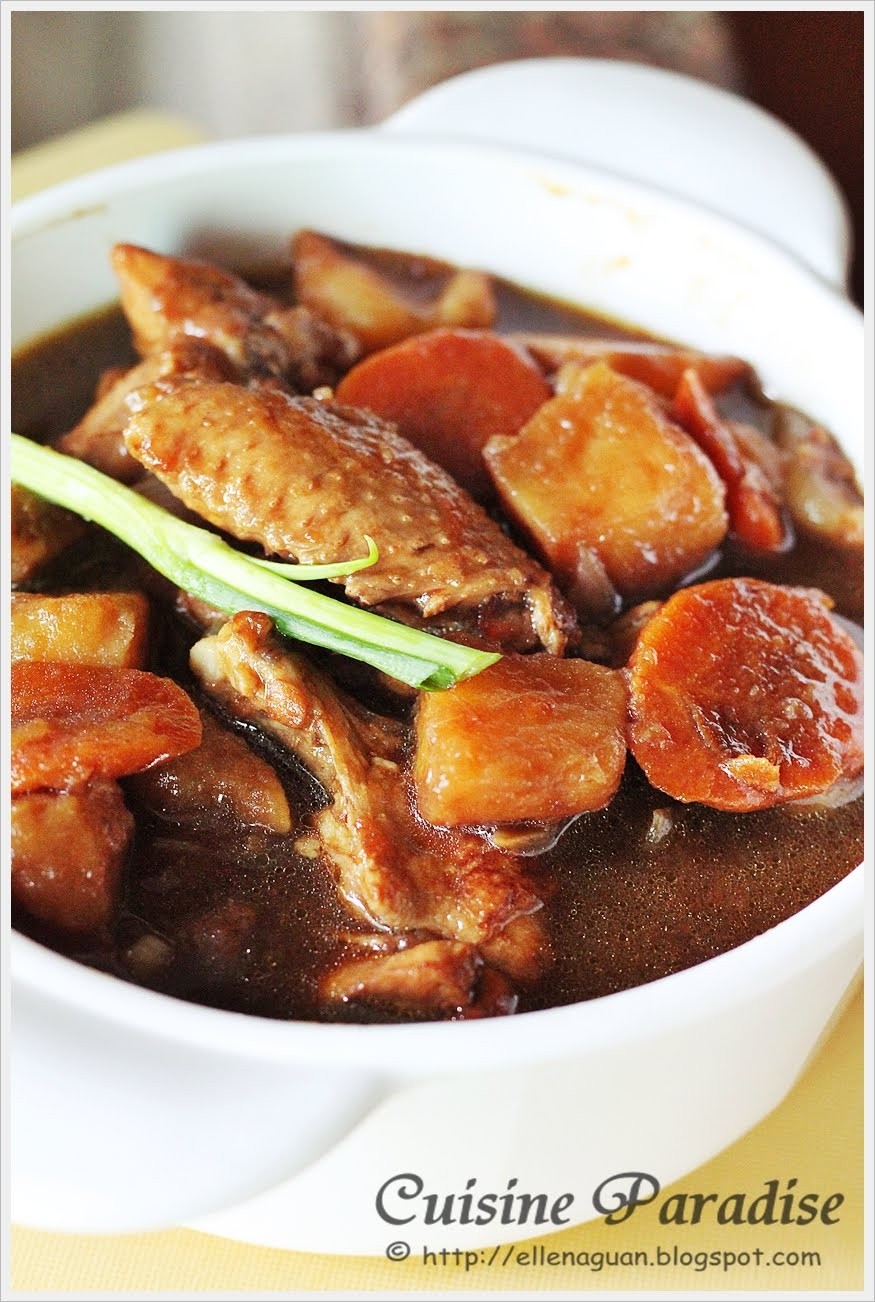 Cuisine paradise singapore food blog recipes reviews and dark soy sauce chicken with potato cubes stew forumfinder Choice Image