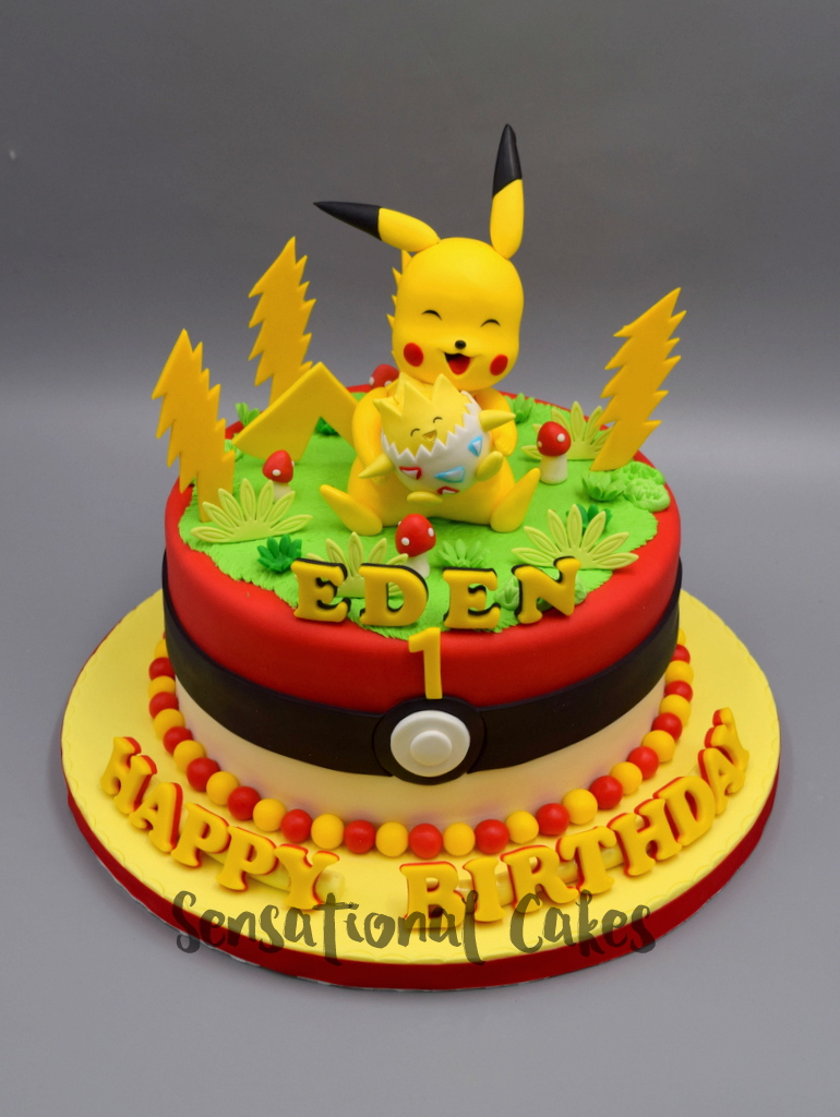 The Sensational Cakes Pikachu And Togepi 3d Sugar Figurine Pokemon