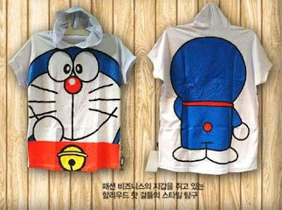 Atasan Kaos Doraemon Hoodie - 9994