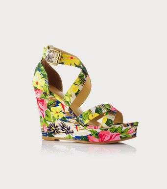 Sandalias de cuña de flores de VENCA