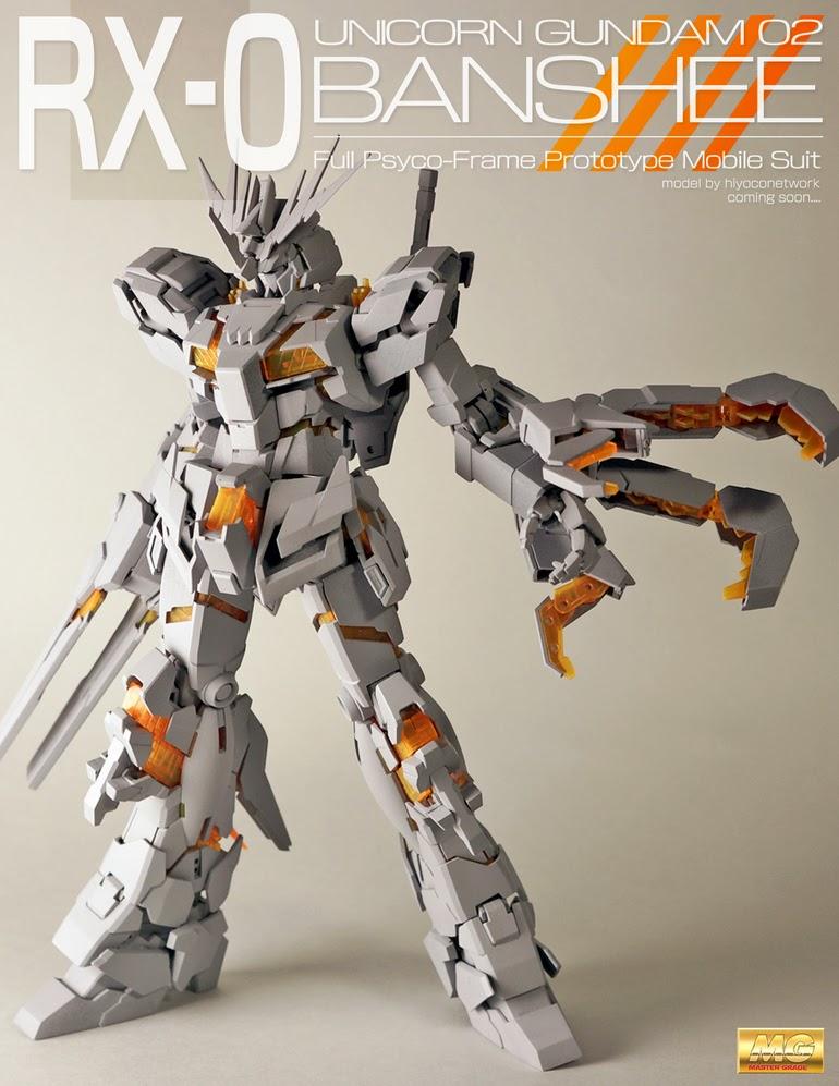 GUNDAM GUY: MG 1/100 Gundam Unicorn 02 Banshee / Banshee ...