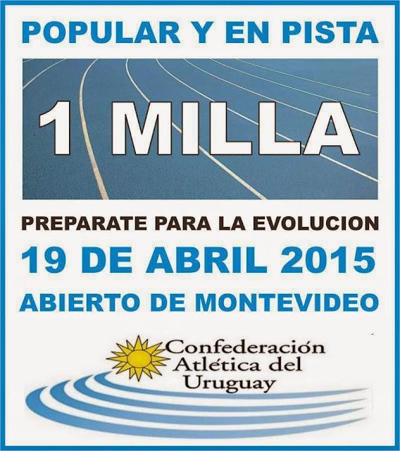 Milla popular y en pista (Montevideo, 19/abr/2015)