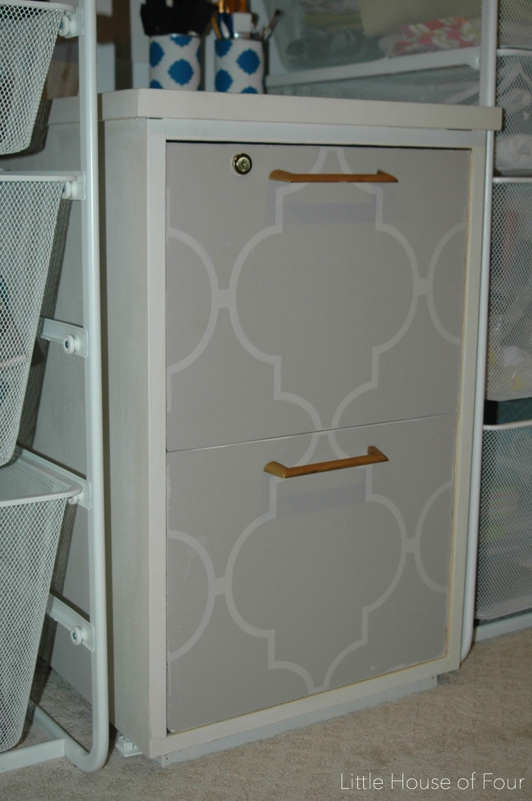 12 inexpensive upcycled projects little house of four Upcycled metal filing cabinet