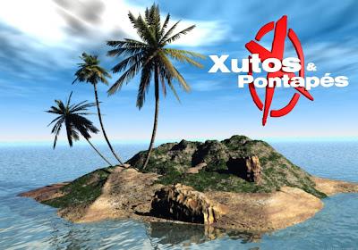 Xutos e Pontapés Wallpapers Grátis Logotipo da banda em fundo Ilha 3D