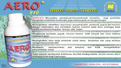 &quot;aero-810 perekat pembasah perata campuran pestisida natural nusantara distributor resmi nasa pentana&quot;