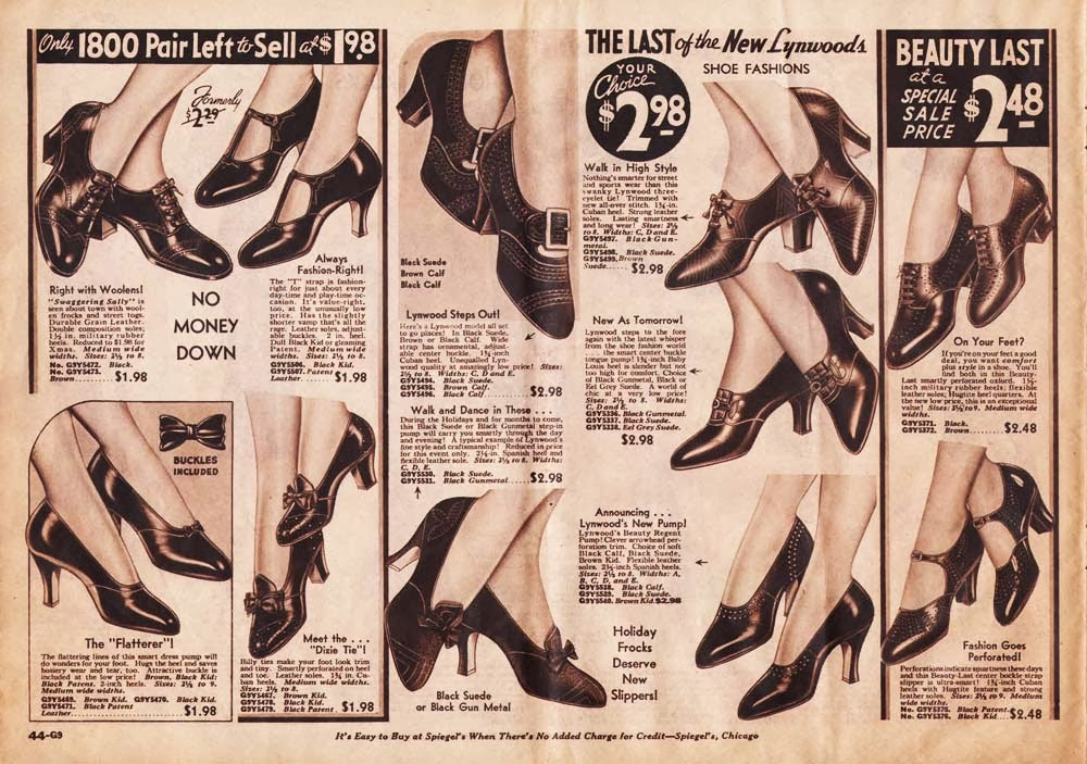 Innovative Vintage Shoe Ads Fashion Print From 1920s NY Catalog To Frame