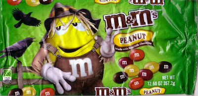 Front of Harvest Blend Peanut M&M's candy wrapper
