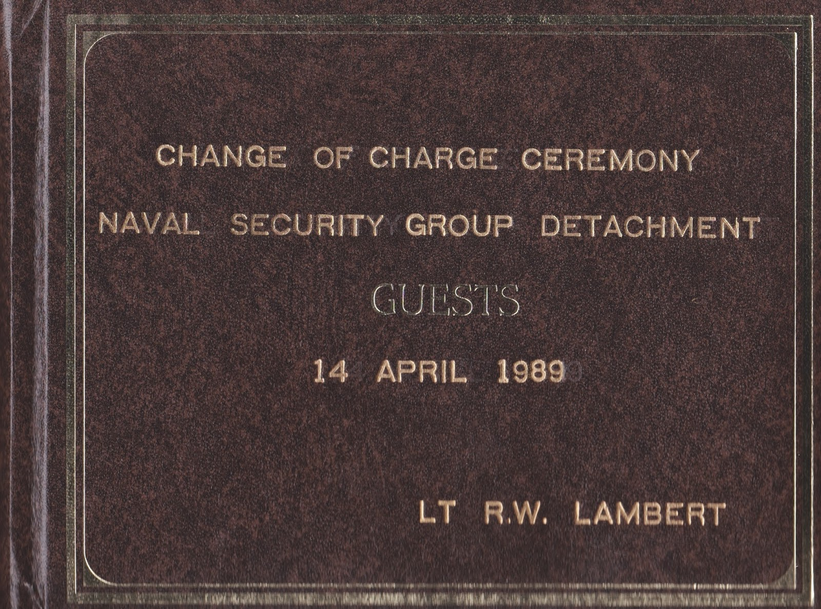 i like the cut of his jib 2013 the guest book for the change of charge ceremony at which lt chuck kasinger assumed charge of nsgd barber s point from me on 14 1989