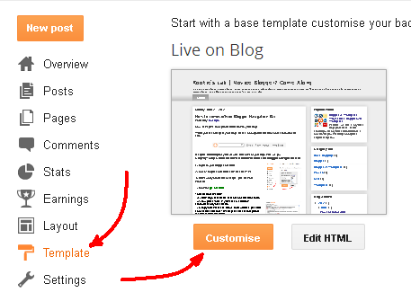 Customize Blogger Template. how to build and customize your own ...
