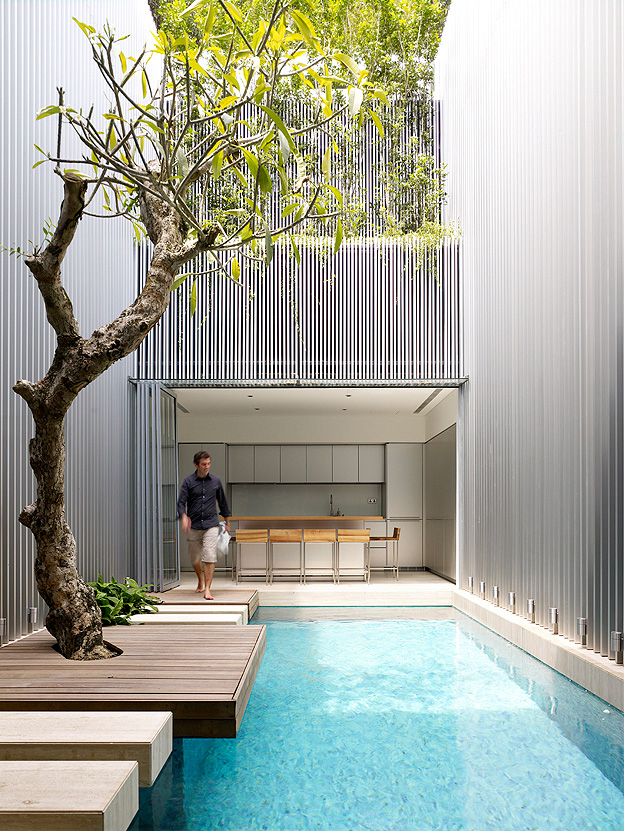 World Of Architecture How To Build Incredible Minimalist House On Narrow Plot Singapore