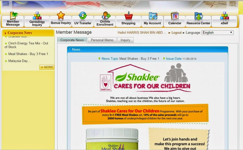 Shopping Online for Shaklee Products