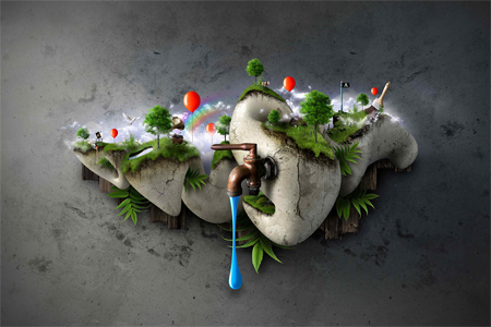 Nature Photo Manipulation: Little World