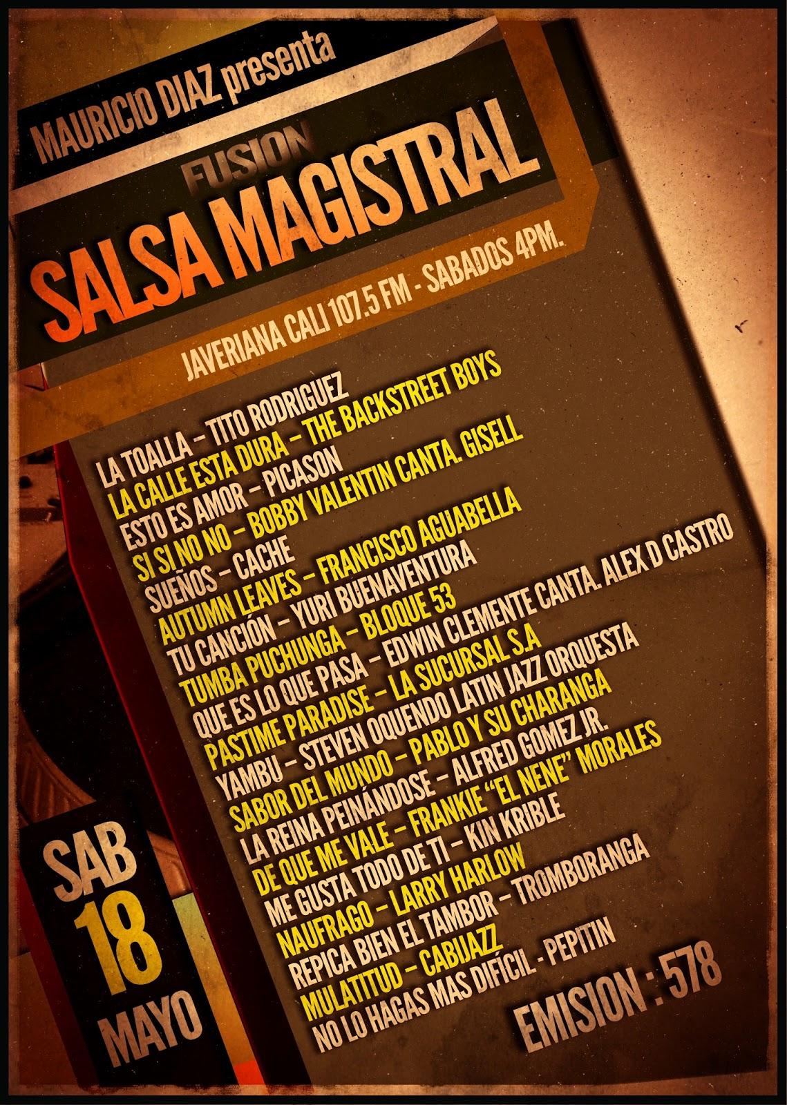 Fusion salsa magistral mayo 18 2013 salsa magistral for Amazon canta tu alex e co